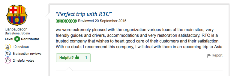 Travel review of RTC from Barcelona