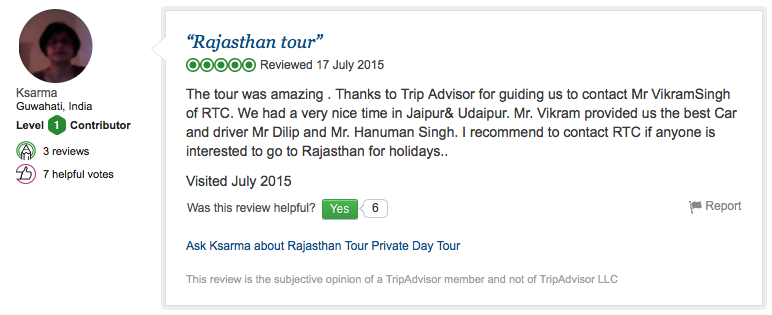 Travel review of RTC from Guwahati