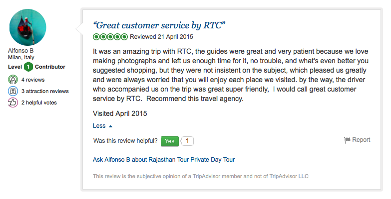 Travel review of RTC from Milan