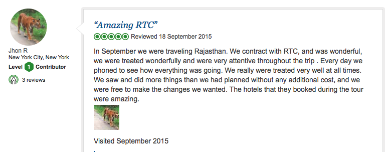 Travel review of RTC from New York City