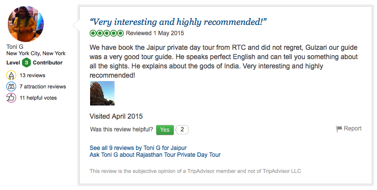 Another Travel review of RTC from New York City