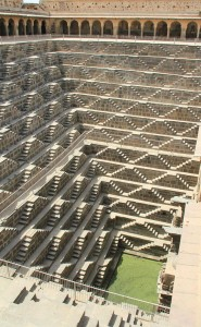 Abhaneri Stepwell is a highlight of Rural Rajasthan Tour